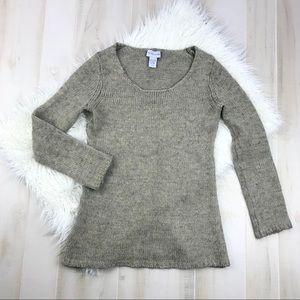Soft Surroundings Tan Medium Knit Sweater Size XS